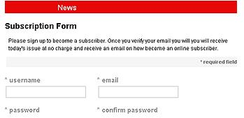 Subscription Form